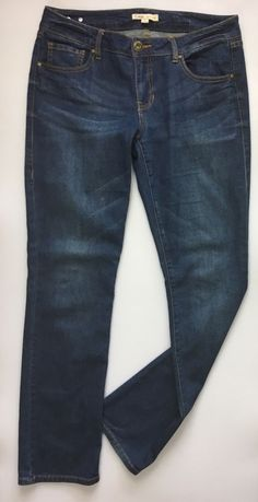Womens CAbi Slim Straight Fit Jeans / Distressed Stretch Cotton Denim Size 6 #CAbi #SlimStraightLeg