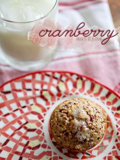 Cranberry Muffins - Great use for fresh cranberries.  I used 1/2 cup honey instead of white sugar, took out applesauce, used almond milk instead of juice, added ground flax seed and a spoon of pumpkin seed butter, and used spelt and a mix of gluten-free flours.