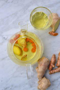 La Cuisine c'est simple: Simple comme une infusion gingembre-curcuma avec la jolie bouilloire en verre de Tefal