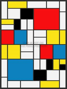 PIET MONDRIAN ABSTRACT CUBES SQUARES OLD MASTER ART PAINTING PRINT 2573OM