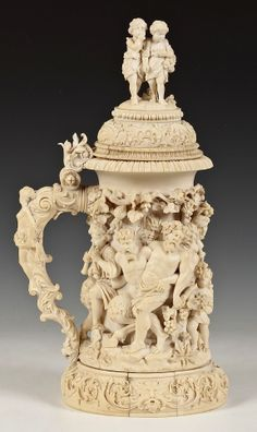 19th cent flemish carved ivory