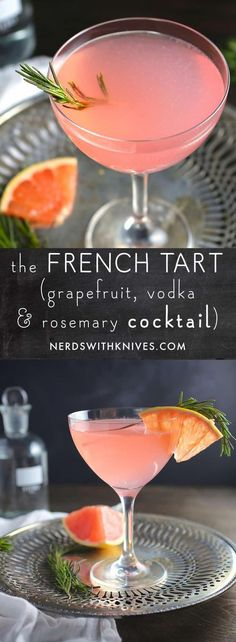 The French Tart (Grapefruit, St. Germain and Rosemary Cocktail) The French Tart (Grapefruit, St. Germain and Rosemary Cocktail) Cointreau Cocktail, Grapefruit Cocktail, Vodka Cocktails, Summer Cocktails, Cocktail Drinks, Cocktail Recipes, Martinis, Popular Cocktails, Vodka Martini