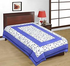 Odishabazaar Sanganeri Printed Cotton Single Bedsheet Bedcover in Multicolor Color Odishabazaar http://www.amazon.com/dp/B01CDYOR4A/ref=cm_sw_r_pi_dp_g3S1wb1EX1WFZ