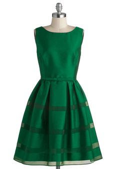 Dinner Party Darling Dress in Emerald | Mod Retro Vintage Dresses | ModCloth.com -- the perfect christmas dress