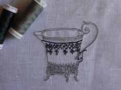 Old Style MILK JUG. Machine embroidery  file design. You'll find it on my Etsy Shop https://www.etsy.com/shop/MyEmbroideryStyle