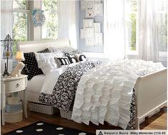 Sewing inspiration - girls' room  PBTeen Ruffled Bedspread