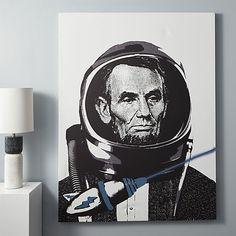 lincoln spaceman print | CB2
