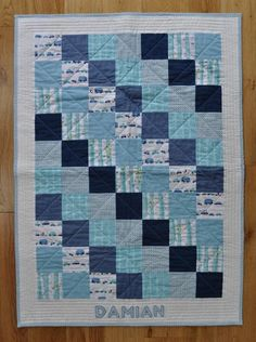 Quilting: Baby boy quilt