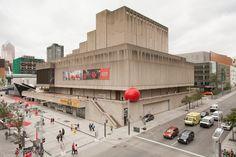 Place des Arts, RedBall Montréal, Artist: Kurt Perschke, Photographer: Thomas Martin, Martin & Martin, Presented by Les Escales Improbables de Montréal 2014 #redballproject
