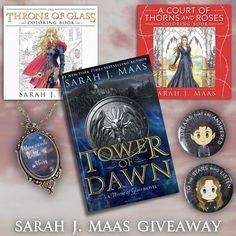 """Sarah J. Maas fans won't want to miss this epic giveaway! One lucky reader will win your choice of any of her books (including pre-orders), as well as the coloring books to go with both series, a """"You could rattle the stars"""" necklace, and a pair of Feyre and Rhysand magnets. Open worldwide (see rules for details)! This giveaway is sponsored by authors D.L. Armillei (Shock of Fate), Cassidy Taylor (When Rains Fall), Scarlett Dawn (Trigger), Raye Wagner (Cursed by the Gods), and Zara Quentin…"""