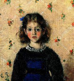 Camille Pissarro  (1830-1903), Portrait of Jeanne Pissarro, called Minette, circa 1872, Private collection