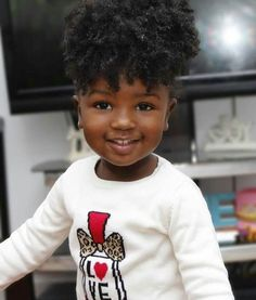 30 Cute and Easy Natural Hairstyle Ideas For Toddlers - Little girl hairstyles - Cute Black Babies, Beautiful Black Babies, Brown Babies, Black Kids, Beautiful Children, Cute Babies, Black Little Girls, Black Women, Pelo Natural