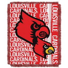Louisville College 48x60 Triple Woven Jacquard Throw - Double Play Series