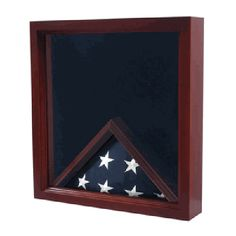 Army Flag Medal Display Box- Shadow Box, Flag Box Hand Made By Veterans