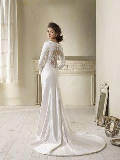 Vestido de novia cortado al bies, inspirado en la moda de 1940  11,545   Boda                       ...