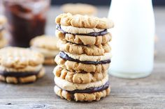 Flourless Peanut Butter Chocolate Ganache Sandwich Cookies