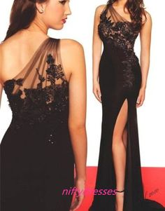 best=Black Prom Dresses One Shoulder Prom Dress Sexy Prom Dress Simple Prom Dresses 2016 Formal Gown Lace on Luulla Sweater Dresses UK Lace Evening Gowns, Sexy Evening Dress, Black Evening Dresses, Prom Dresses 2016, Black Party Dresses, Mermaid Prom Dresses, Dress Prom, Dress Black, Grad Dresses