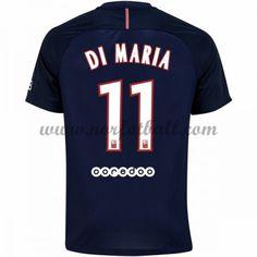 Billige Fotballdrakter Paris Saint Germain PSG 2016-17 Di Maria 11 Hjemme Draktsett Kortermet