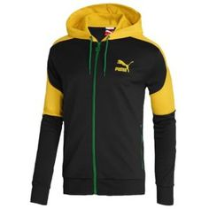 PUMA Country Kai Jacket - Men's - Sport Inspired - Clothing - Black/Gold/Jamaica