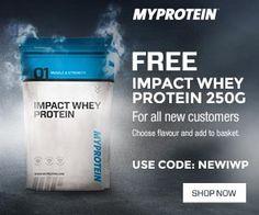 Free MyProtein Impact Whey - code: NEWIP  #myprotein #whey #wheyprotein