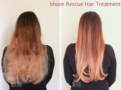 bhave Rescue Therapy keratin hair treatment - Before vs After