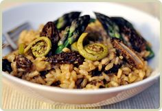 Spring Risotto with Morels, Fiddleheads & Asparagus from Root1. Now ...