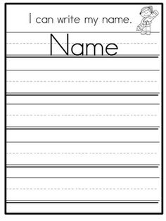 FREE personalized name tracing sheet for preschool and kindergarten. Can be edited to include any child's name. Great for kids learning to write their name, as well as kids who need more handwriting practice. Preschool Names, Preschool Writing, Name Activities, Preschool Learning Activities, Writing Activities, Vocabulary Activities, Kids Learning, Name Tracing Worksheets, Kids Math Worksheets