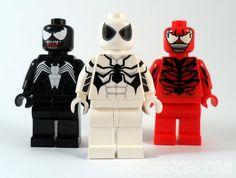 Venom, Future Foundation Spider-Man & Carnage - Customs by Christo, via Flickr - www.brickheroes.com