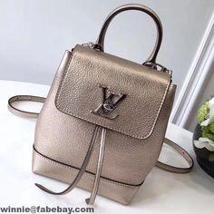 7f6a6f64d3d7 Louis Vuitton Mini Lockme Backpack Bag M54575 Gold 2017 Louis Vuitton 2017, Louis  Vuitton Handbags