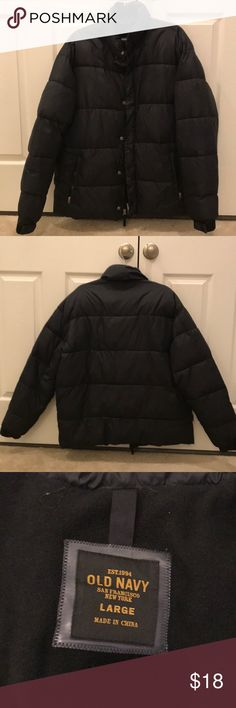 Old Navy Fleece Lined Puffer Jacket Old Navy Fleece Lined Puffer Jacket in great condition. Has some stains on sleeve (see picture) Old Navy Jackets & Coats Puffers