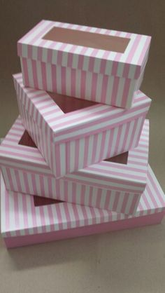 Cupcake Boxes, Box Cake, Cupcake Packaging, Packaging Design, Pink And White Stripes, Red And White, Cake Business, Candy Shop, Confectionery
