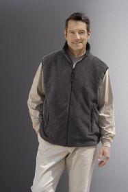 Promotional Products Ideas That Work: Men's interactive fleece vest. Get yours at www.luscangroup.com