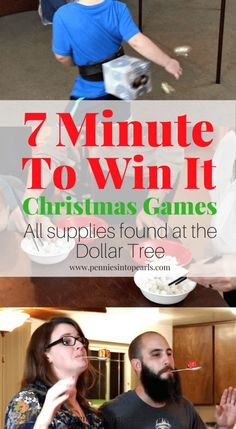 Here are 7 super fun Minute To Win It Games, Christmas Edition. With the bonus of all the supplies either found already at home or at the Dollar Tree! These Minute to Win It Games will entertain every one in your family all night and won't cost you much more than a couple bucks spent at the Dollar Tree! Minute To Win It Games Christmas, Christmas Games For Family, Christmas Couple, Christmas Ideas, Christmas Traditions, Christmas 2019, Minute To Win It Games For Kids, Christmas Crafts, Holiday Ideas