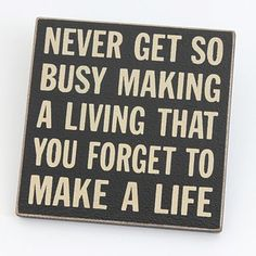 Black 'Never get so busy' magnet - Hanging decorations - Home accessories - Home & furniture -