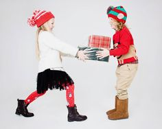 Bella & Theo Christmas Gift - promotional Christmas shoot at Mentor Model Agency