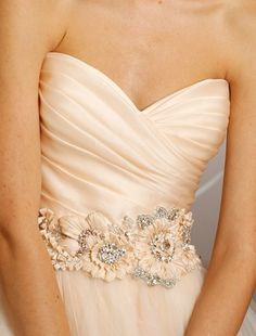 this top and belt in white......Bridal Gowns: Lazaro Princess/Ball Gown Wedding Dress with Sweetheart Neckline and Natural Waist Waistline