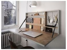 Small Space Living, Small Rooms, Small Apartments, Studio Apartments, Small Desks, Desk In Small Space, Small Space Furniture, Small Bathrooms, Apartment Furniture