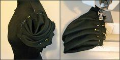 Pleated sleeves