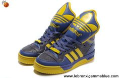 Buy Adidas X Jeremy Scott Big Tongue Shoes Purple Yellow Your Best Choice