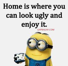 Funny Minion Joke About Home vs. Ugly
