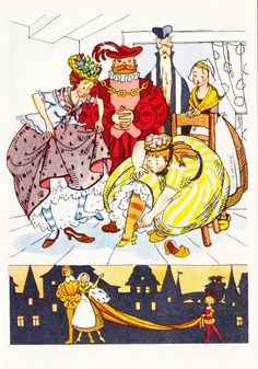 Postcard Illustration  Charles Perrault no4 by RussianSoulVintage, $3.50