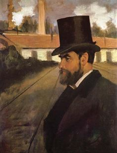 """lyghtmylife: """" Edgar Degas [French Realist/Impressionist Painter and Sculptor, Henri Rouart in front of His Factory, circa 1875 oil on canvas Carnegie Museum of Art (United States) """" Edgar Degas, Carnegie Museum Of Art, Art Museum, Renoir, Arctic Monkeys, Maurice Utrillo, Edouard Manet, Oil Painting Reproductions, Aerosmith"""