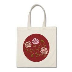 Oriental Style Red Peony Bag. Gifts for mom under $15.