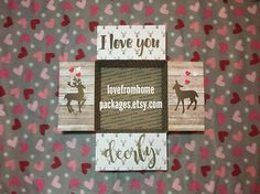 Love you Deerly military deployment long distance Care Package Flap Kit