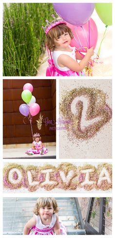 2 year old portraits, balloons, kid photography, glitter, birthday photography, gina hancock photography