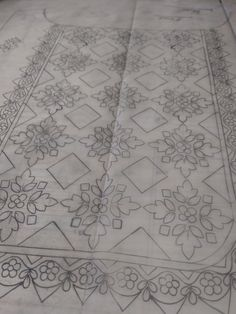 66 Super Ideas For Sewing Machine Drawing Style Border Embroidery Designs, Geometric Embroidery, Embroidery Motifs, Paper Embroidery, Machine Embroidery, Butterfly Embroidery, Embroidery Ideas, Sewing Machine Drawing, Geometric Box