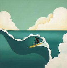Tyler Warren - Big Tube (surf artist)