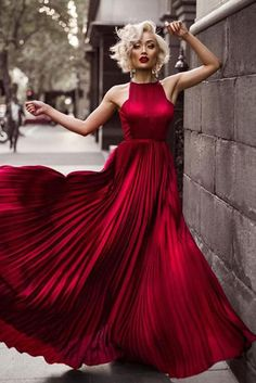 Chiffon A-Line Open-Backless Floor-Length Prom Dress, - Style Evening Dresses Evening Dresses, Prom Dresses, Formal Dresses, Red Wedding Dresses, Dress Prom, Club Dresses, Elegant Dresses, Pretty Dresses, Beautiful Dresses