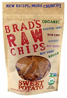 """We love Brad's Raw Chip clear labels on the packaging. Be careful! Not all packaging is this transparent.  """"We thoughtfully select organic and non-GMO vegetables, seeds and spices to make nutrient dense combinations."""""""