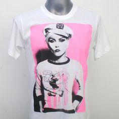 BLONDIE  Women TShirt  Punk  Rock TShirt  White Size by 99rockshop, $15.99
